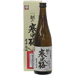日本酒 越の寒中梅 特別本醸造 720ml P12Sep14