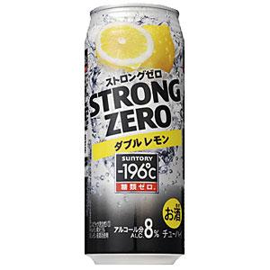 サントリー −196℃ ストロングゼロ ダブルレモン 500ml×24本(代引き不可) P12Sep14