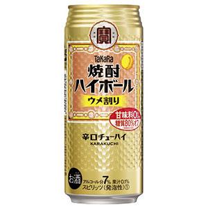 タカラ 宝  焼酎ハイボール ウメ割り 500ml×24本(代引き不可) P12Sep14