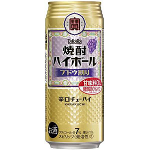 タカラ 宝  焼酎ハイボール ブドウ割り 500ml×24本(代引き不可) P12Sep14