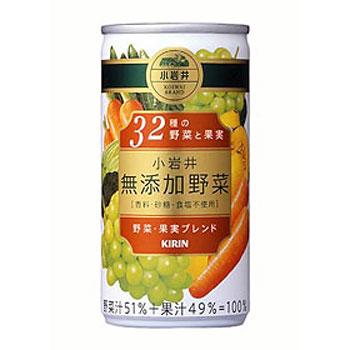 キリン 小岩井 無添加野菜32種の野菜と果実 缶 190g×30本(代引き不可) P12Sep14