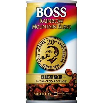 サントリー BOSS ボス 珈琲 レインボーマウンテン 185g×30本(代引き不可) P12Sep14