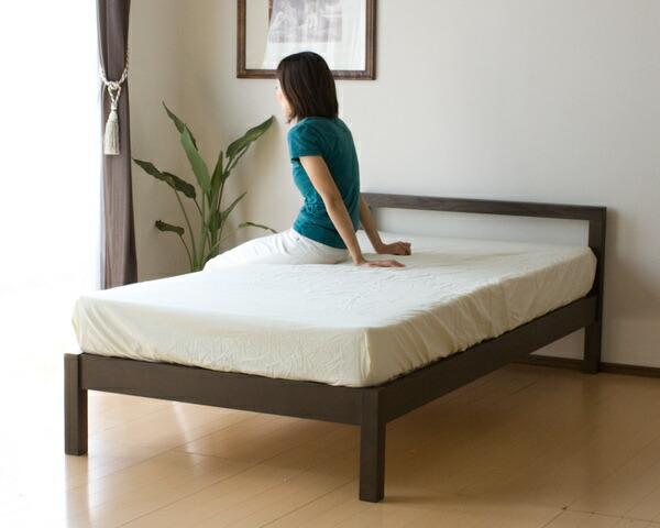 シンプルデザインタモ材シングルベッド MJ-bed ポケットコイルマットレス付き [商品番号:m-bed-s](代引不可) P12Sep14