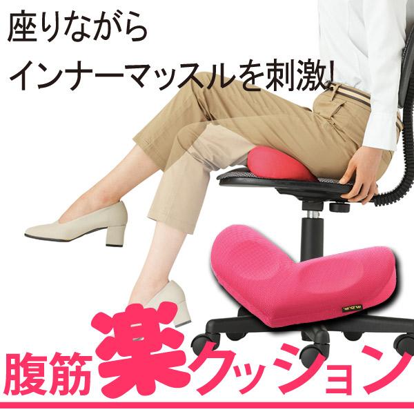 筋トレ クッション[勝野式 座りながら腹筋楽クッション]ぽっこりお腹対策に!座るだけエクササイズ!腹筋 器具 ダイエットクッション 腰痛対策 便秘 下腹 ダイエット P12Sep14