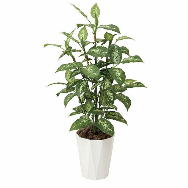 アートフラワー 人工観葉植物 光触媒 光の楽園 ディフェンバキア1.1 (代引き不可) P12Sep14