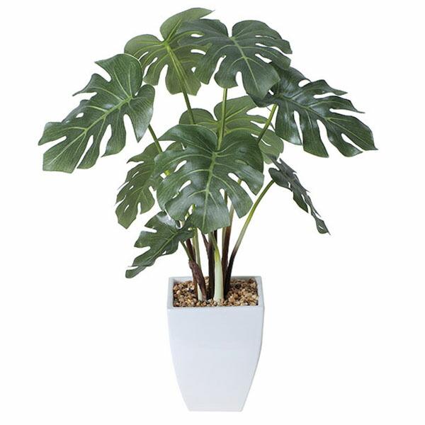 アートフラワー 人工観葉植物 光触媒 光の楽園 モンステラポット (代引き不可) P12Sep14