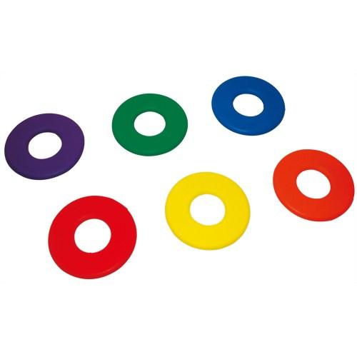 トーエイライト ソフトフォームリングディスク 6本1組(赤・青・黄・緑・オレンジ・紫 各1本) B-3077 P12Sep14