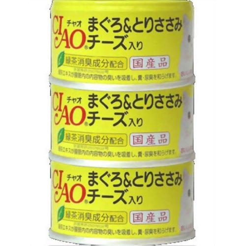 チャオ まぐろ&とりささみ チーズ入 85g×3P いなば食品 P12Sep14