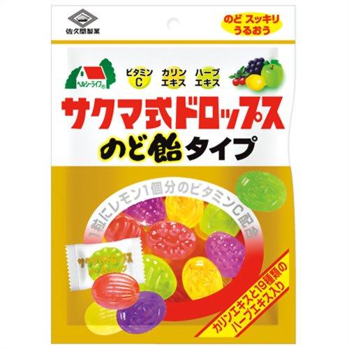サクマ式ドロップス のど飴タイプ 90g 佐久間製菓 P12Sep14