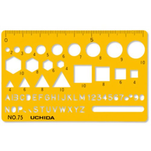 ウチダ テンプレート カードサイズ定規 75 マービー P12Sep14