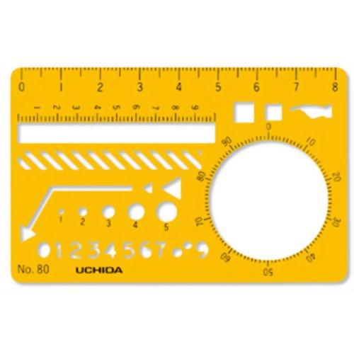 ウチダ テンプレート カードサイズ定規 80 マービー P12Sep14