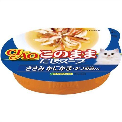 チャオ このままだしスープ ささみ かにかま・かつお節入り 60g いなばペットフード P12Sep14