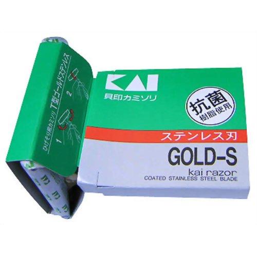 T型ゴールドステンレス カミソリ 5本入 貝印 P12Sep14