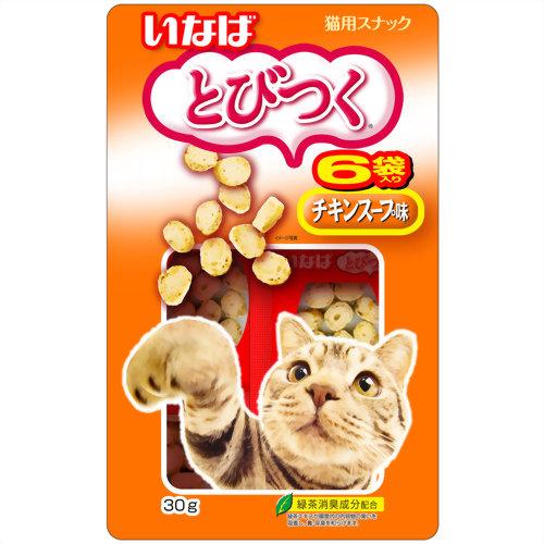 とびつく 猫用スナック チキンスープ味 30g いなばペットフード P12Sep14