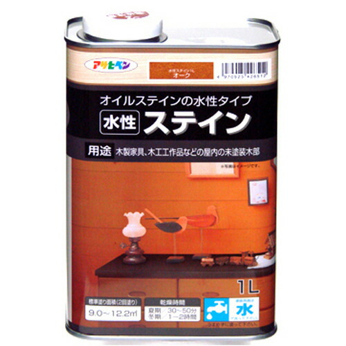 アサヒペン 水性ステイン オーク 1L P12Sep14