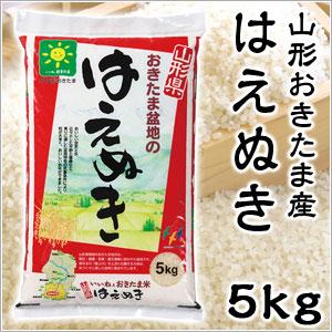 米 日本米 特Aランク 産地直送 25年度産 山形県 おきたま盆地産 はえぬき 置賜 5kg JA直送(代引き不可) P12Sep14