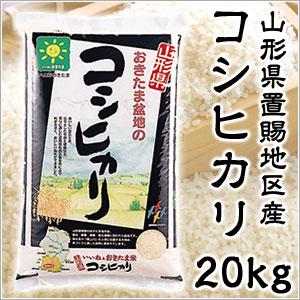 米 日本米 特Aランク 産地直送 25年度産 山形県 おきたま盆地産 コシヒカリ 置賜 20kg (5kg×4袋) JA直送 (代引き不可) P12Sep14