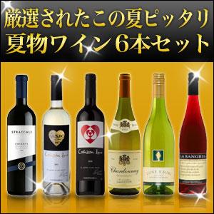 氷でロック、飲み方自由!夏のワインは最高!夏物ワイン 6本セット ワイン セット(代引き不可) P12Sep14