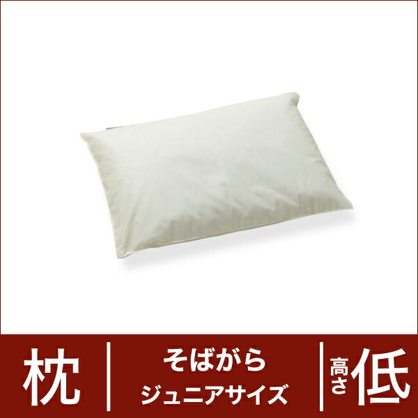 セレクト枕 そばがら ジュニアサイズ(29×40cm) 高さ低め(代引き不可) P12Sep14