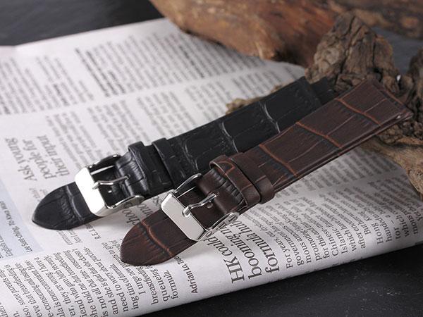 本革 カーフ型押しクロコ メンズ 腕時計 時計 替えベルト PLCMS30-20-BK ブラックH2 P12Sep14