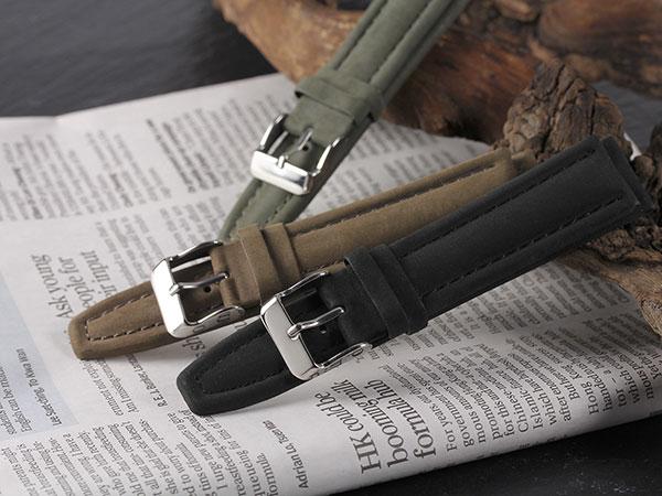 本革 カーフヌバック メンズ 腕時計 時計 替えベルト PLCNB30-22-KA カーキH2 P12Sep14