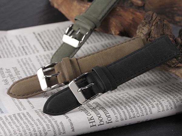 本革 カーフヌバック メンズ 腕時計 時計 替えベルト PLCNC30-22-KA カーキH2 P12Sep14