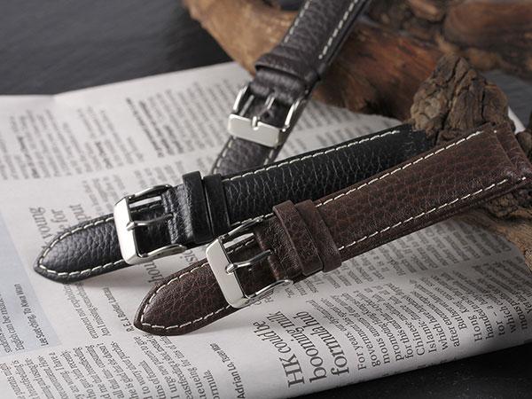 本革 カーフシュリンクステッチ メンズ 腕時計 時計 替えベルト PLCSS25-20-DBR ダークブラウンH2 P12Sep14