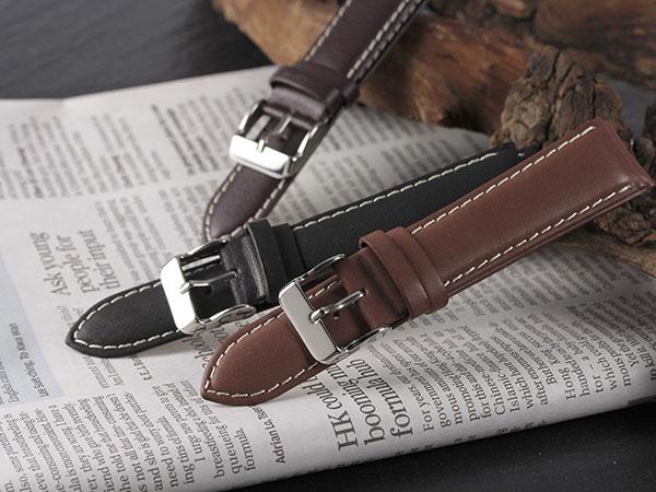 本革 カーフステッチ メンズ 腕時計 時計 替えベルト PLCWS25-22-BK ブラックH2 P12Sep14