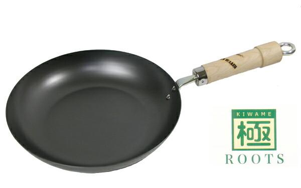 リバーライト 極ROOTSシリーズ 日本製 IH対応 鉄フライパン 28cm 重量:1280g P12Sep14