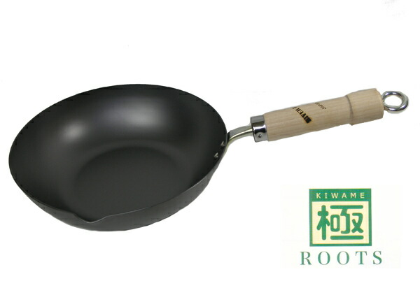 リバーライト 極ROOTSシリーズ 日本製 IH対応 炒め鍋 28cm 重量:1130g P12Sep14