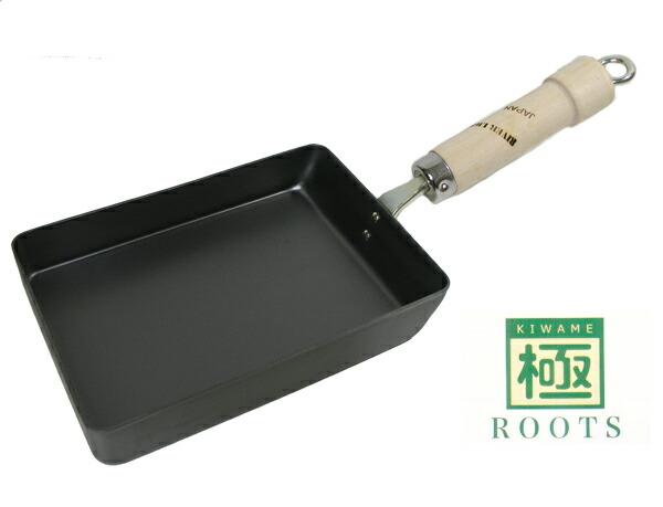 リバーライト 極ROOTSシリーズ 日本製 IH対応 フライパン たまご焼き (小) 重量:590g P12Sep14