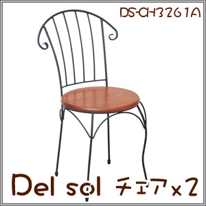 Del Sol チェア2台セット ダイニングチェア アジャスター付(DS-CH3261A) P12Sep14