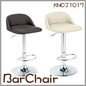 バーチェア 座面高さ調整 360度回転 椅子 イス シンプルなデザインがインテリアに馴染む ダークブラウン アイボリー(KNC-J1017) P12Sep14