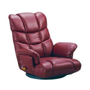 スーパーソフトレザー座椅子 神楽 座いす イス リクライニング 日本製 360度回転(YS-1393) P12Sep14