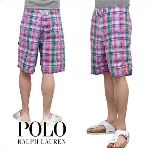 POLO RALPH LAUREN  PAID マドラスチェック スウィム パンツ ( 全3色 ) 水着 P12Sep14