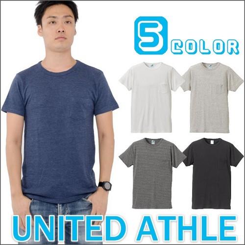 UNITED ATHLE  4.4ozトライブレンド 胸ポケット付 半袖Tシャツ P12Sep14
