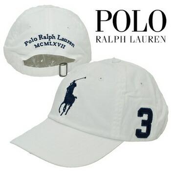 POLO RALPH LAUREN(ポロラルフローレン)  BIG PONY コットン チノ キャップ ( 全5色 ) ネイビー×レッド P12Sep14