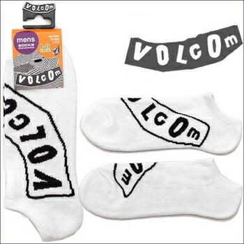 VOLCOM PISTOL ロゴデザイン ソックス ( 靴下 ) ホワイト P12Sep14