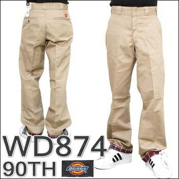 DICKIES(ディッキーズ) (WD874) 90周年記念モデル 874ワークパンツ / 90TH ANNIVERSARY WORK PANT  ブラック (32) P12Sep14