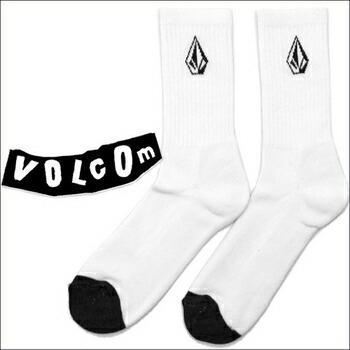 VOLCOM FULL STONE ハイ ソックス 3足パック (全2色) ホワイト (3足パック) P12Sep14
