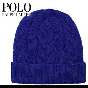 POLO RALPH LAUREN(ポロラルフローレン)  CASHMERE CABLE ニット ワッチ ブルー P12Sep14