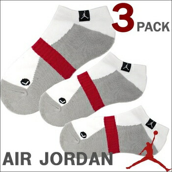 JORDAN  3 PACK NO SHOW ソックス ( 全3色 ) (M) ホワイト P12Sep14