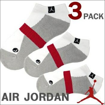JORDAN  3 PACK NO SHOW ソックス 3足組 (全3色) (M) ホワイト P12Sep14