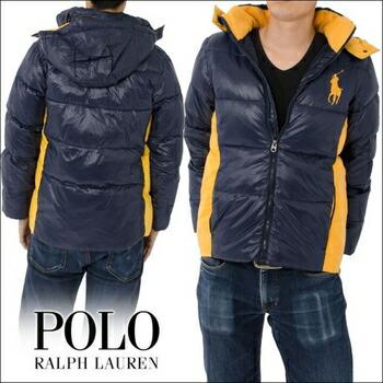 POLO RALPH LAUREN(ポロラルフローレン)  (ボーイズ) BIG PONY PUFFER ジャケット ( 全2色 ) (L) ブラック ※ボーイズサイズ P12Sep14