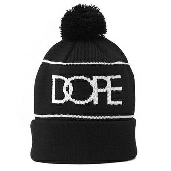 DOPE COUTURE  LOGO PLATE BEANIE ビーニーキャップ ブラック / ホワイト P12Sep14