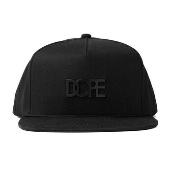 SMALL METAL PLATE LOGO スナップバック キャップ (DOPE COUTURE) レッド / ブラック P12Sep14