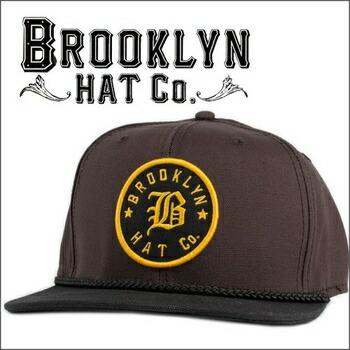 BROOKLYN HAT  BROOKLYN BASEBALL スナップバック キャップ by Christys ブラック×ブラウン P12Sep14
