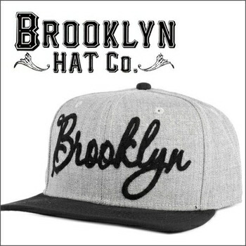 BROOKLYN HAT  BROOKLYN BASEBALL スナップバック キャップ by Christys グレイ×ブラック P12Sep14