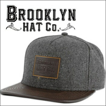 BROOKLYN HAT  BROOKLYN BASEBALL スナップバック キャップ by Christys グレイ×ブラウン P12Sep14