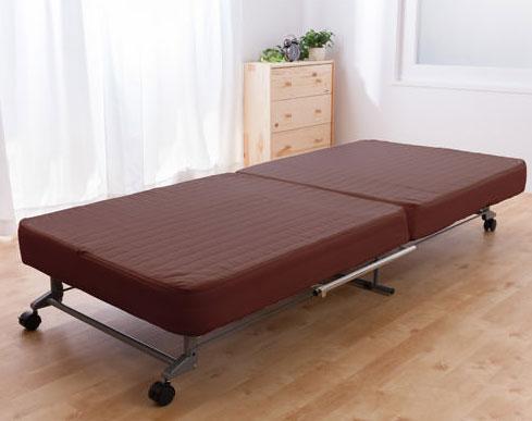 洗える替えカバー式 折りたたみベッドシングル  P12Sep14